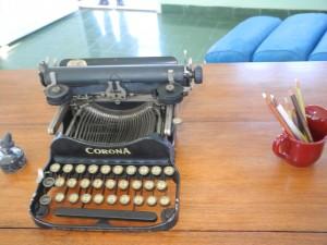 Heminway's typewriter
